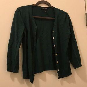 Sweaters - Dark green cardigan